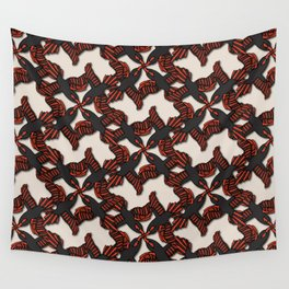 Animalier Red Bird White Wall Tapestry