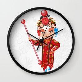 Beijing Opera Character YangPaiFeng Wall Clock