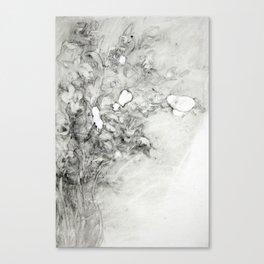 Left vase of iris Canvas Print