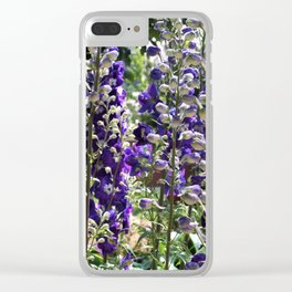 Delphiniums Clear iPhone Case