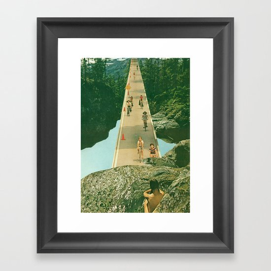 here comes the summer Framed Art Print