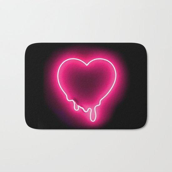 Heart (Neon) Bath Mat