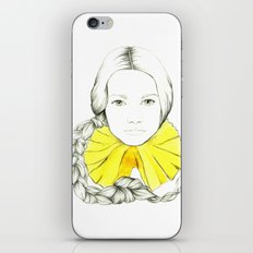 Frill Neck Lady iPhone Skin