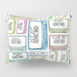 Tape Mix 2 Vintage Cassette Music Collection Pillow Sham