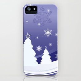 Christmas background iPhone Case