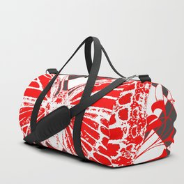 DECORATIVE RED & WHITE HARLEQUIN  PATTERN Duffle Bag