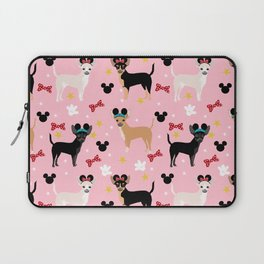 Chihuahua theme park lover dog breed pattern gifts Laptop Sleeve