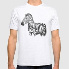 Zebra Ash Grey Mens Fitted Tee SMALL