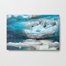 arch in the ice Metal Print