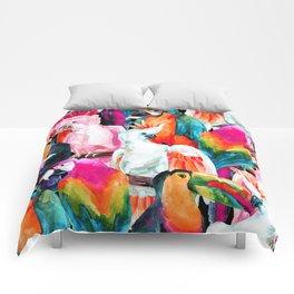 Exotic birdlife Comforters