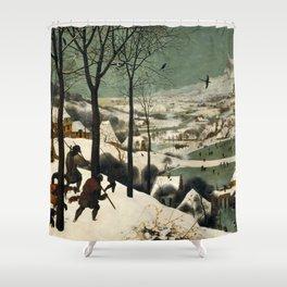 The Hunters in the Snow - Pieter Bruegel the Elder Shower Curtain