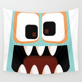 Bubble Beasts: Menacing Mint Fang Cleanser Wall Tapestry