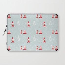 Santa Elf Blue Red  #Christmas #holiday Laptop Sleeve