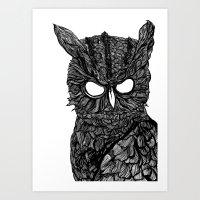 Demon Owl Art Print