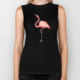 Flamingo Pattern - White Biker Tank