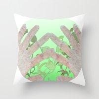 bag Throw Pillows featuring Bag by Art Barf