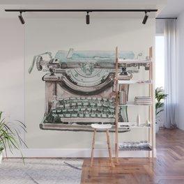 Vintage Typewriter Watercolor II Wall Mural