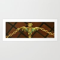 haunted mansion Art Prints featuring Haunted Mansion Bat Stanchion by ArtisticAtrocities