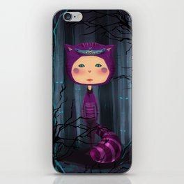 alice purple cat iPhone Skin