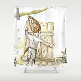 Winter - Inspiration of Elsa Beskow Shower Curtain