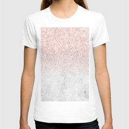 She Sparkles Rose Gold Pink Concrete Luxe T-shirt