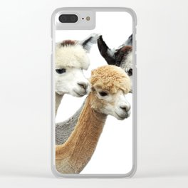 Alpaca Trio Clear iPhone Case