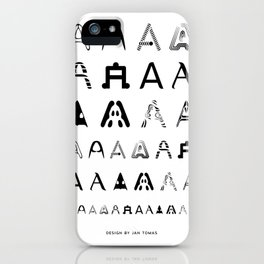 A is the first letter iPhone Case