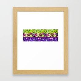 Grape strip Framed Art Print