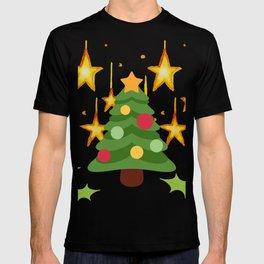 Christmas tree and stars T-shirt