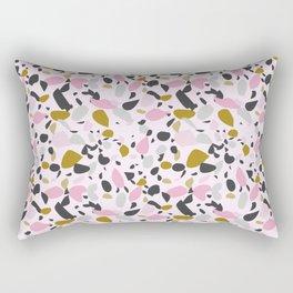 Pink Terrazzo Dreams Rectangular Pillow