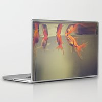 breathe Laptop & iPad Skins featuring Breathe. by Joëlle