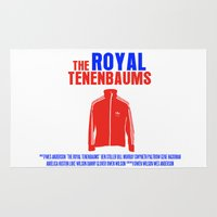 the royal tenenbaums Area & Throw Rugs featuring The Royal Tenenbaums Movie Poster by FunnyFaceArt