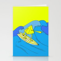 surfer Stationery Cards featuring Surfer by melanie johnsson