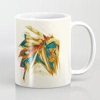 native american Mugs featuring Native American by Jo Tan