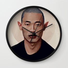 Elf Portrait Wall Clock