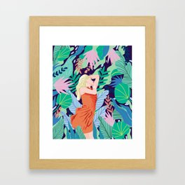 Soulful Garden Framed Art Print