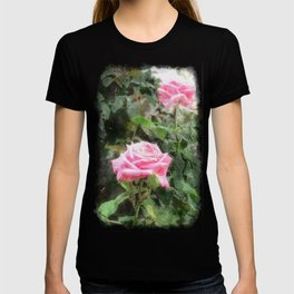 Pink Roses in Anzures 5  Watercolor T-shirt