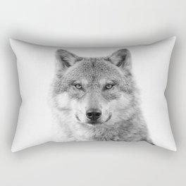 Wolf Portrait Rectangular Pillow