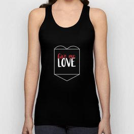 Give Me Love Black Heart Unisex Tank Top