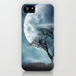 Moon Blues iPhone Case