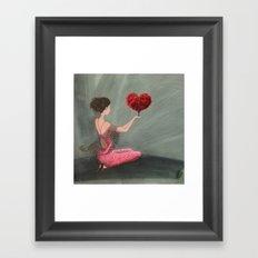 RED LOVE Framed Art Print