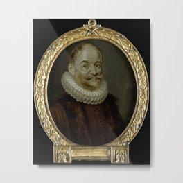 Portrait of Johannes Polyander à Kerckhoven, Professor of Theology in Leiden,  1700 Metal Print
