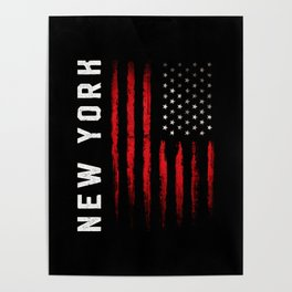 New York American flag Poster