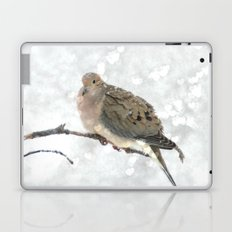 Snowy Winter Dove Laptop & iPad Skin