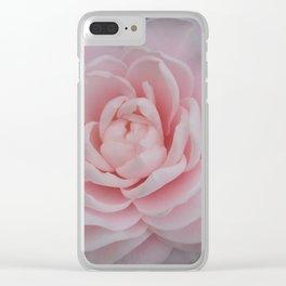 Camellia Dreams Clear iPhone Case