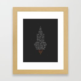 I am the Space Rocket. Framed Art Print