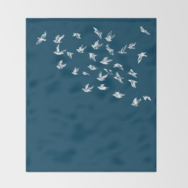 Flying Free (on Blue) Throw Blanket