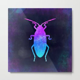 COCKROACH IN SPACE // Animal Graphic Art // Watercolor Canvas Painting // Modern Minimal Cute Metal Print