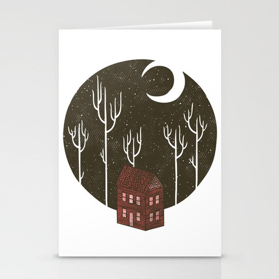 At Night Stationery Cards