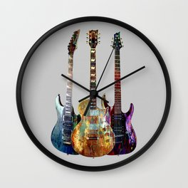 Sounds of music.Three Guitars. Wall Clock